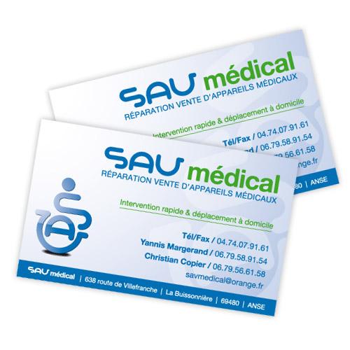 Logo Et Cartes De Visite SAV Mdical
