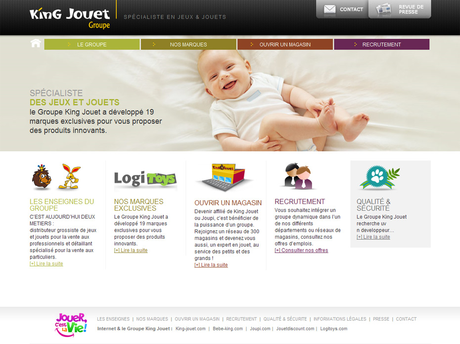 site internet groupe king jouet home