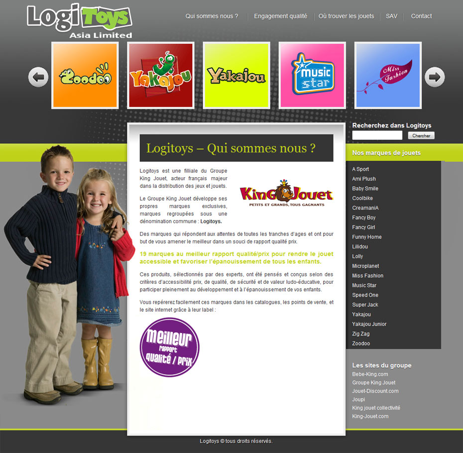 site internet logitoys home